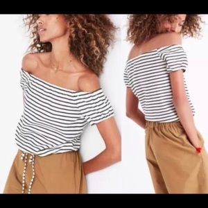 Madewell Striped Melody Off-the-Shoulder Top